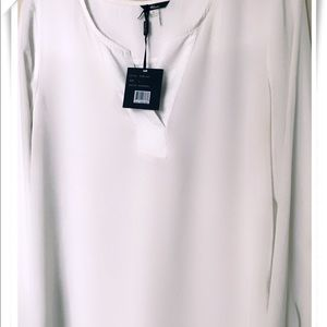 NEW Women White Color Chiffon Blouse Size L
